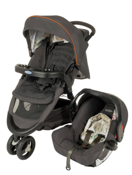 Graco Ts Fastaction Sport Bowtie Bear Travel System